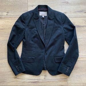 Banana Republic Fitted Suit Jacket Blazer Black